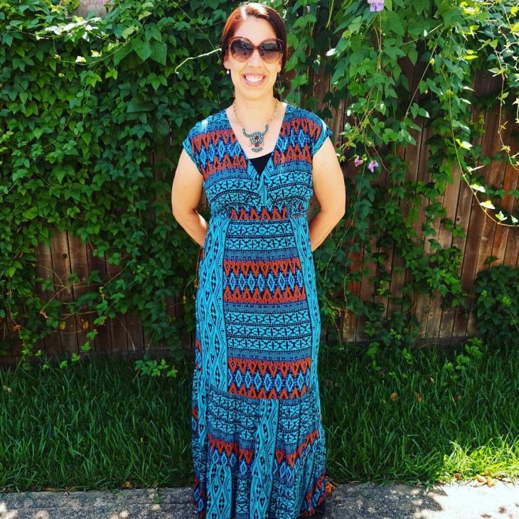 beautiful tribal print dress idea