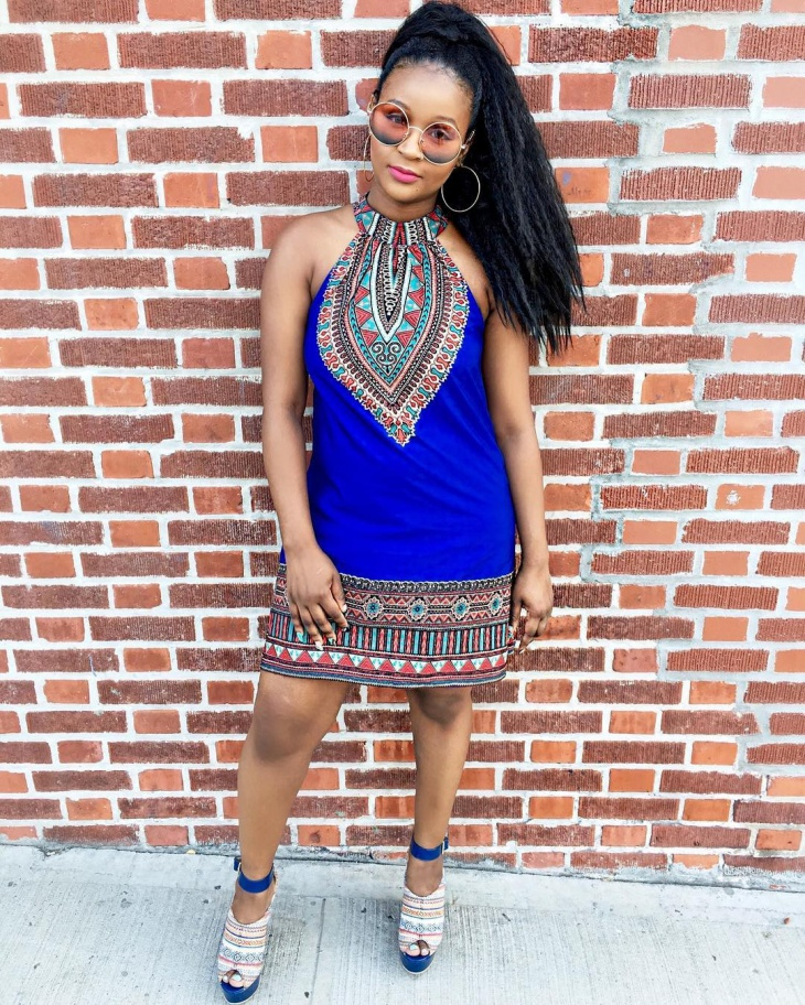 Aztec Tribal Print Dress Design