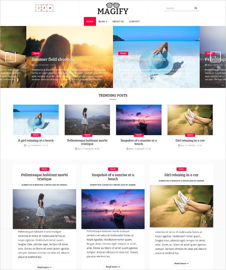 magazine bootstrap drupal theme