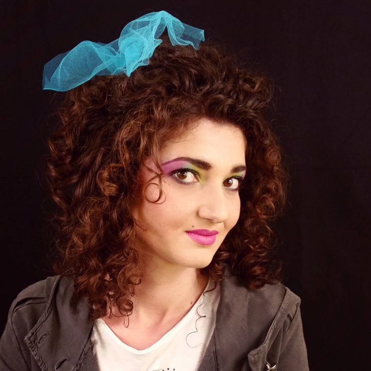 vintage disco makeup