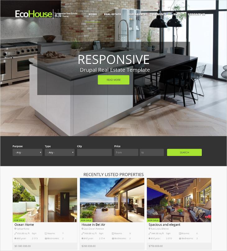 Real Estate Bootstrap Drupal Theme