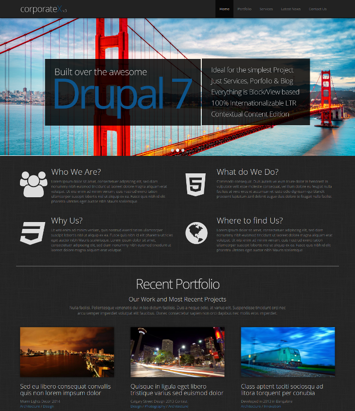 Business Drupal Bootstrap Theme