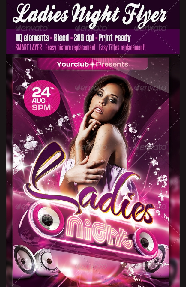 ladies night club party flyer