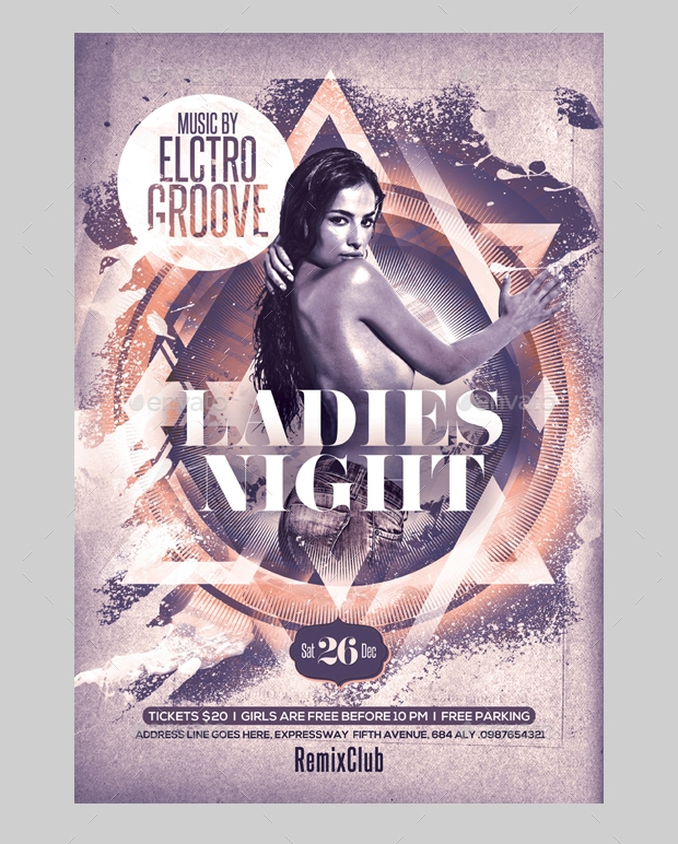 electro ladies night flyer
