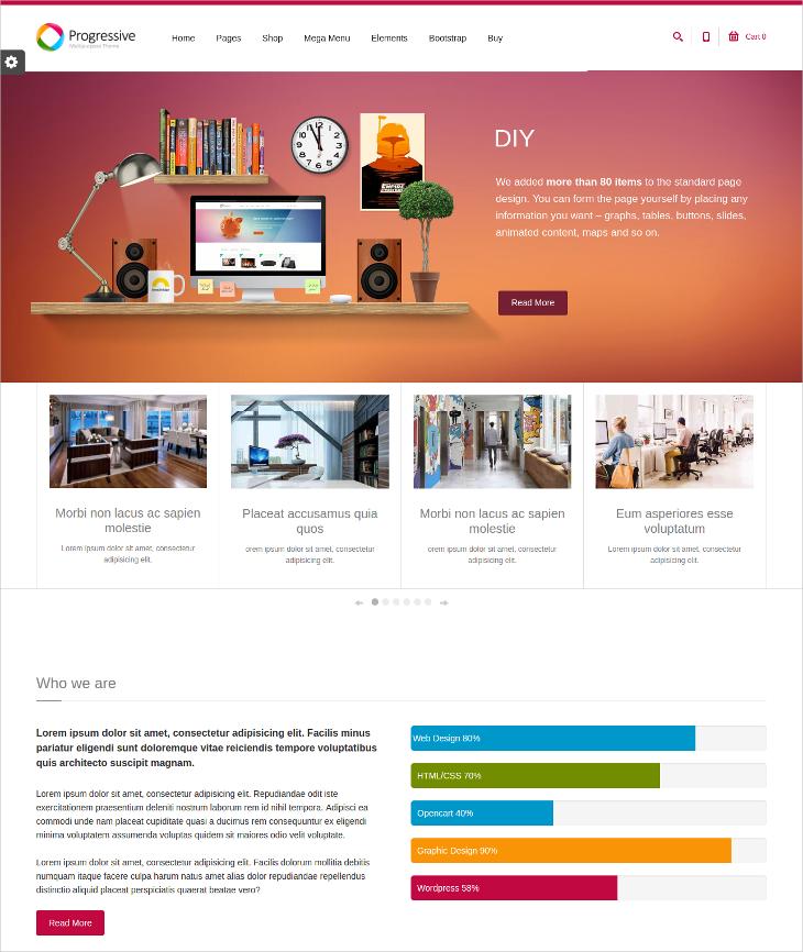 Multipurpose Responsive Drupal Bootstrap Theme
