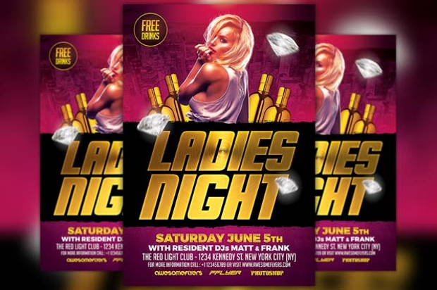 ladies night club flyer