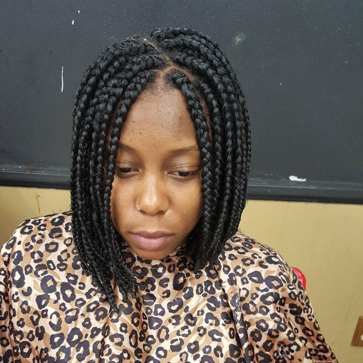 cool braided bob hairstyle