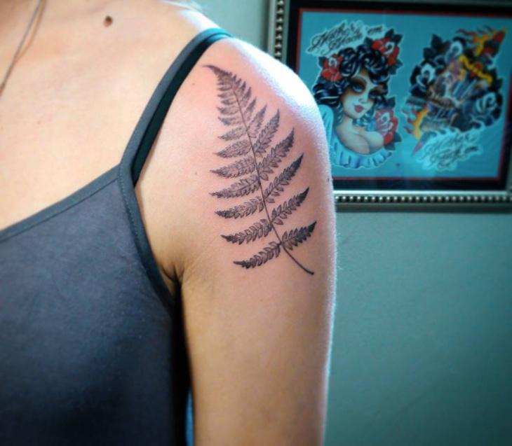Fern Tattoo on Shoulder