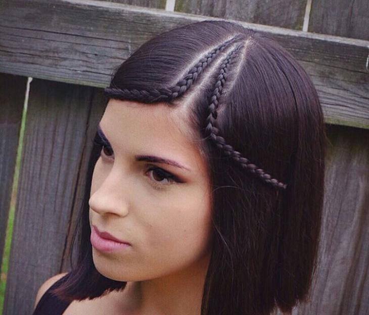 silky braided bob hair