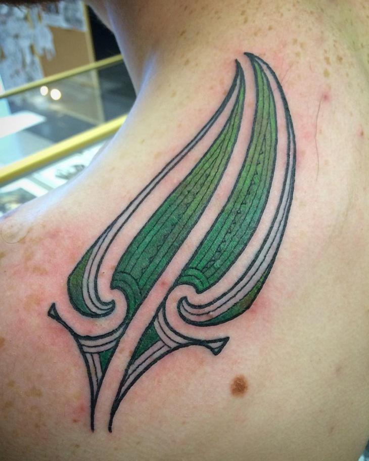 Tribal Fern Tattoo Idea