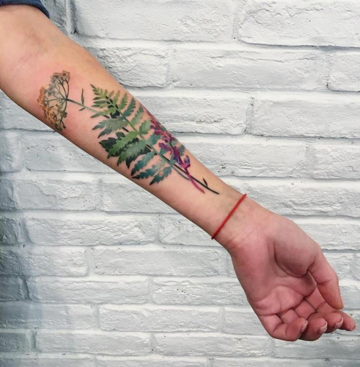 Fern Tattoo on Forearm