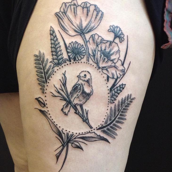 Traditional Fern Tattoo