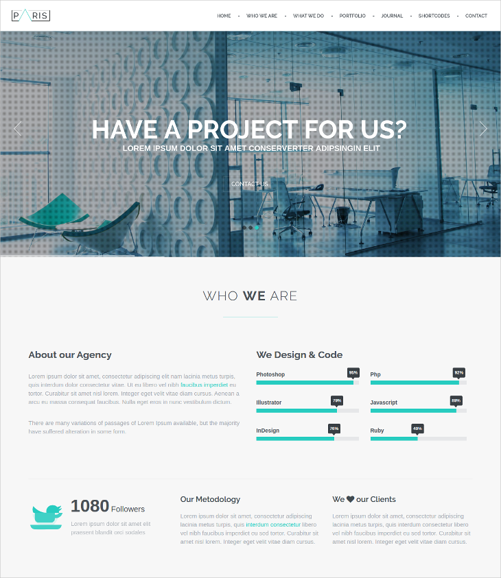 One Page Bootstrap Drupal Template