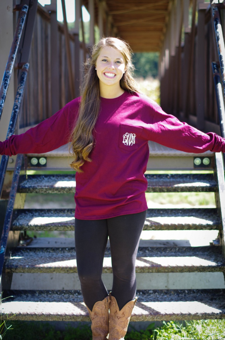 long sleeve monogram t shirt