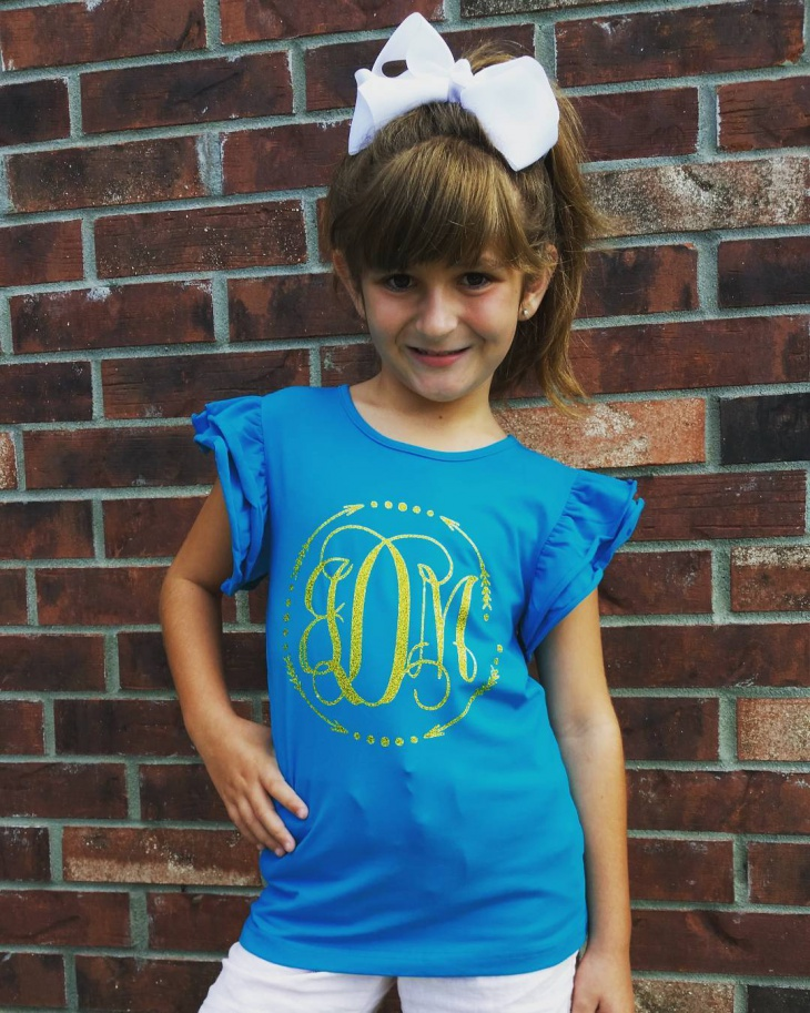 monogram t shirt for kids