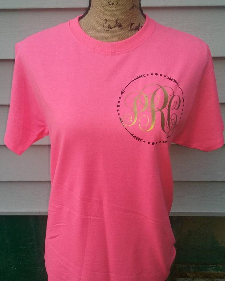 Pink Monogram T Shirt