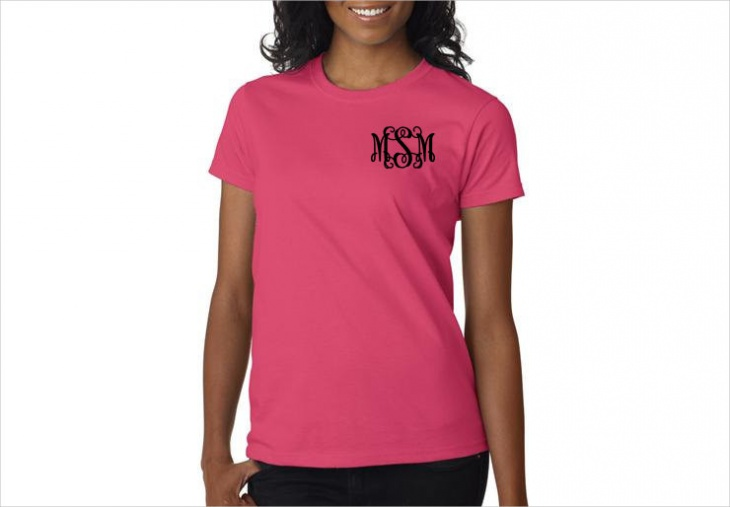 Cool Monogram T Shirt Design
