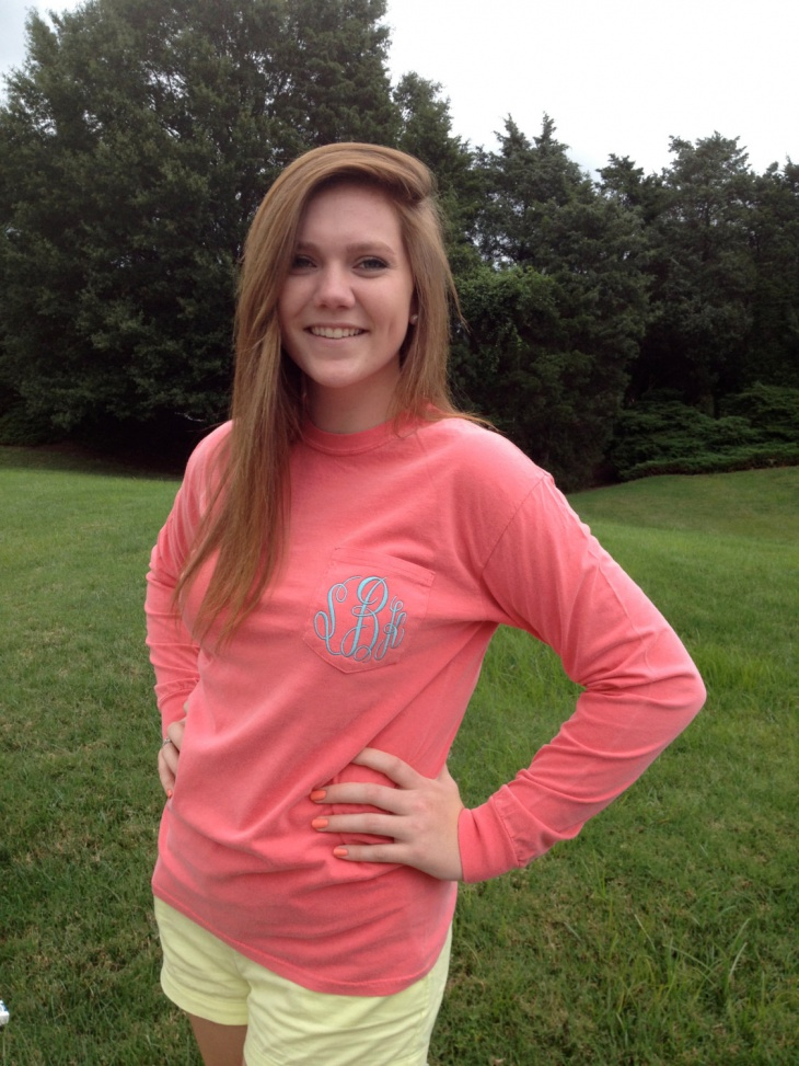 Pretty Monogram Pocket Tee T Shirt