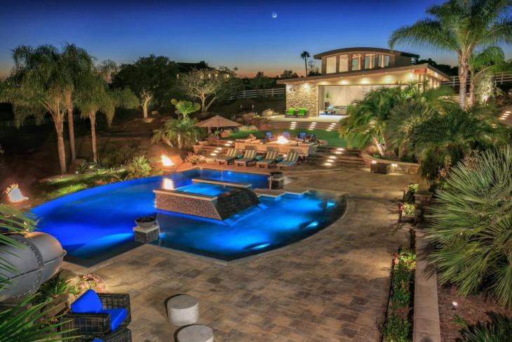 backyard swimming pool Patio