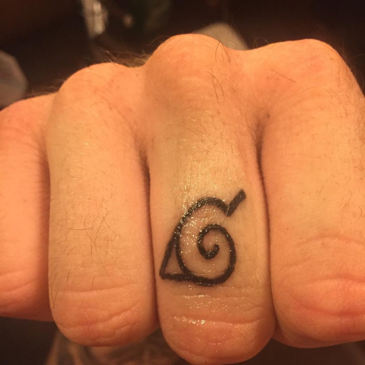 Naruto Finger Tattoo