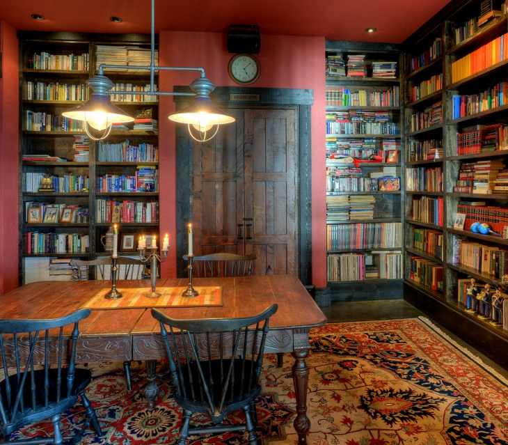Home Design Ideas Floor Plans: 18+ Library Table Designs, Ideas