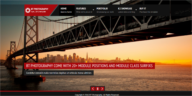 Photography Joomla Template