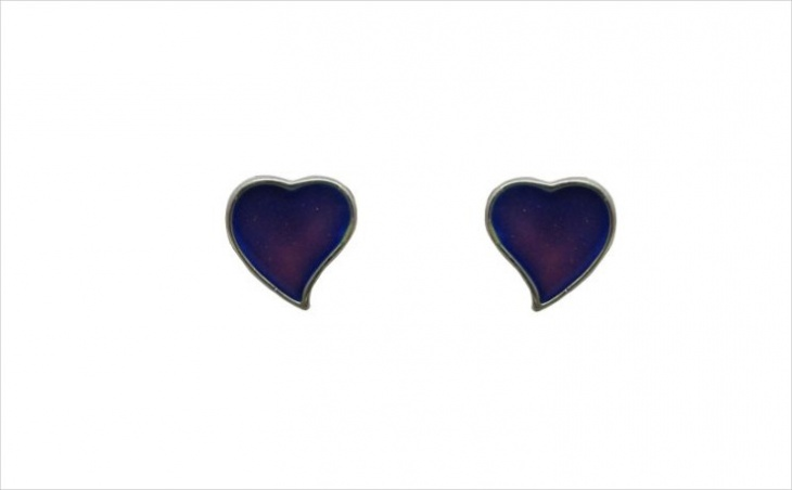 heart shape mood earrings