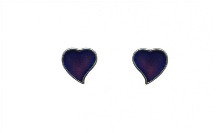 Heart Shape Mood Earrings