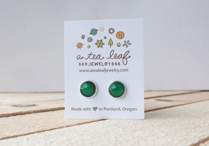 simple mood earrings idea