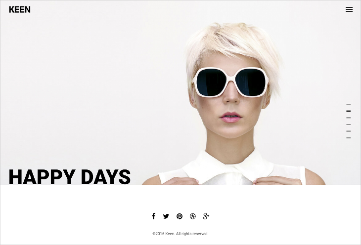 Minimalistic Photography Joomla Template