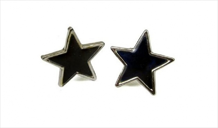 star shape mood earrings