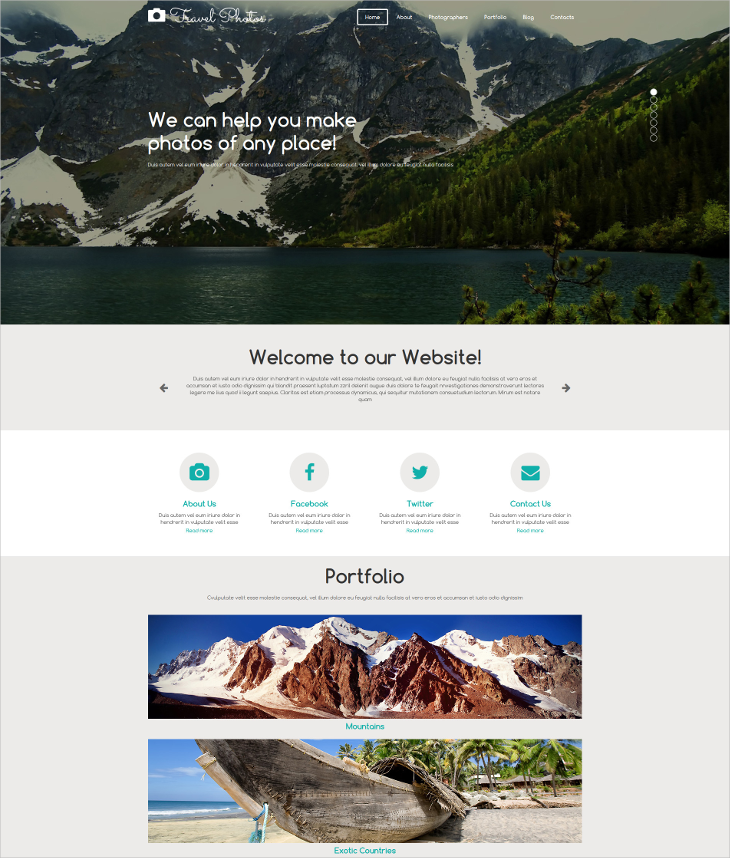 Responsive Photographer Joomla Theme