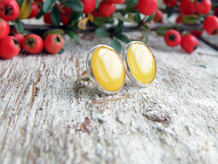 yellow mood earrings