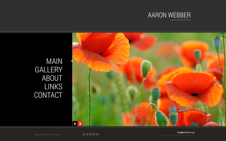 photographer portfolio responsive joomla template