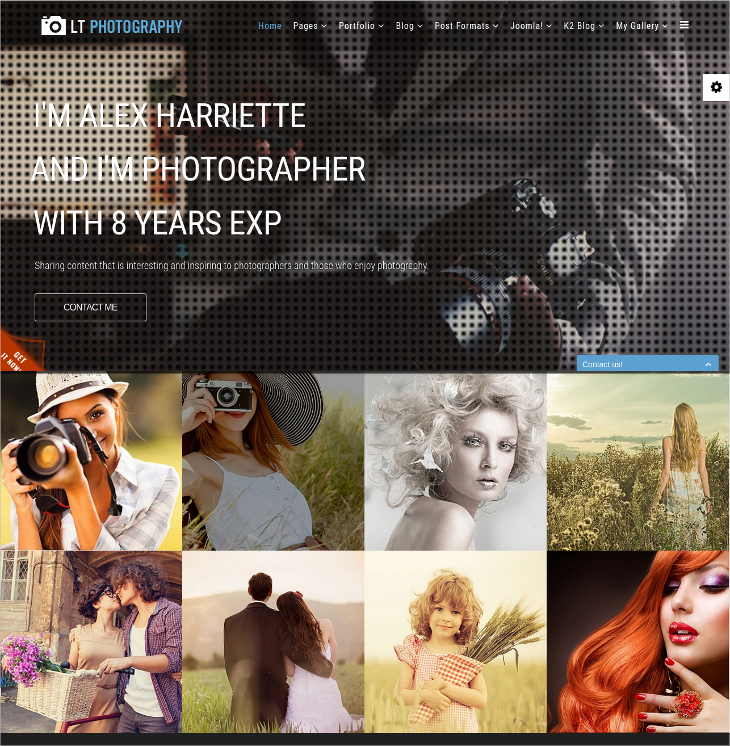 premium photography joomla template