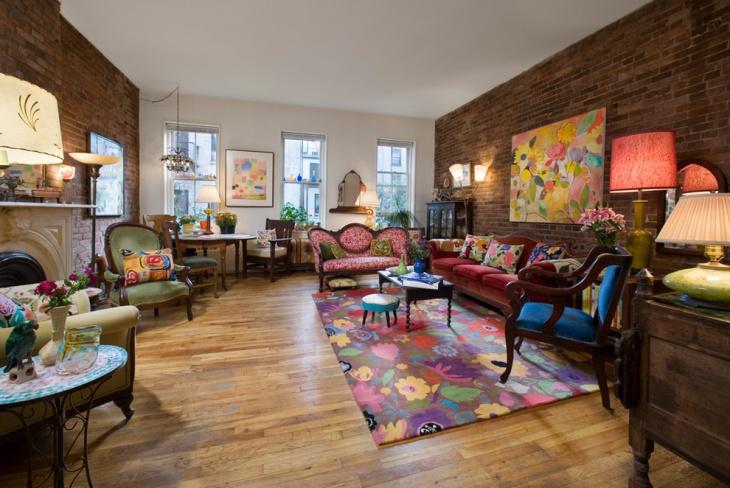modern antique living room design
