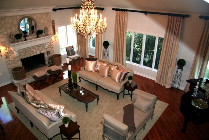 elegant antique living room idea