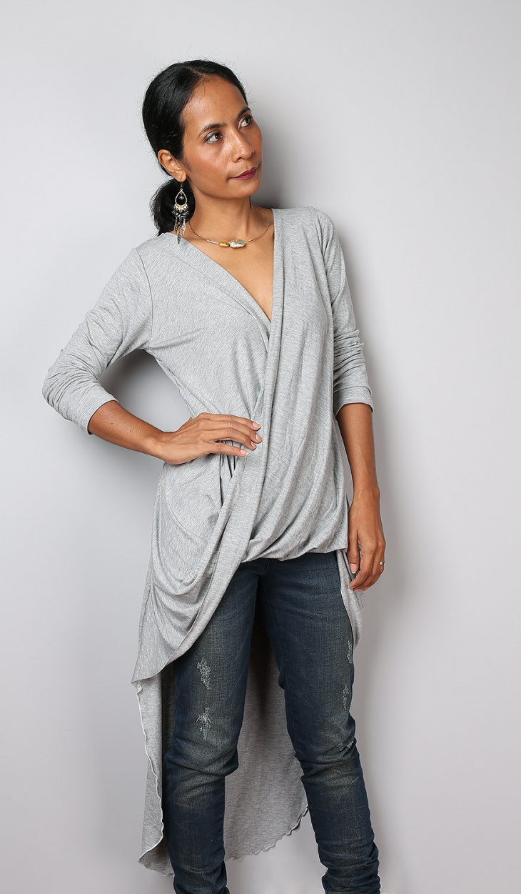 Urban Grey Cardigan Dress