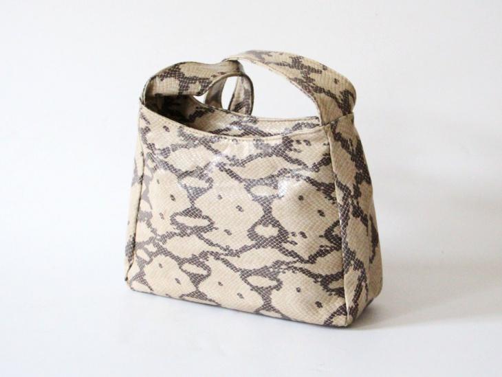 Animal Print Leather Handbag