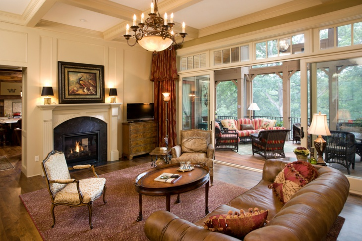 outdoor antique living room