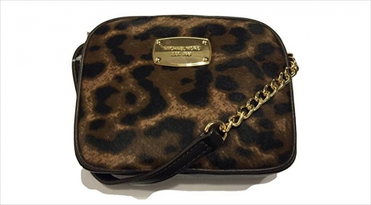 animal print cross body handbag