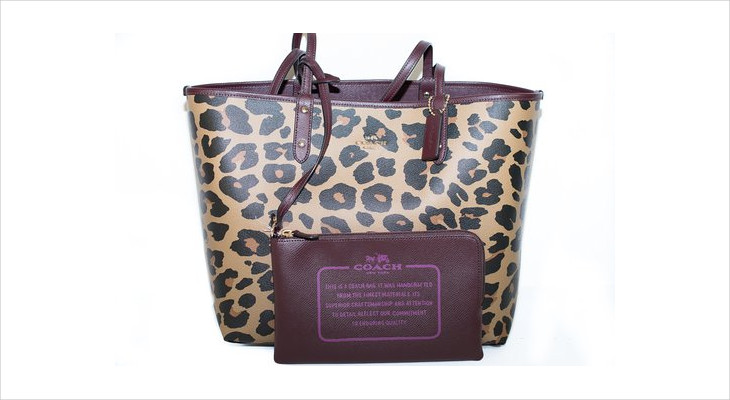 animal print tote handbag