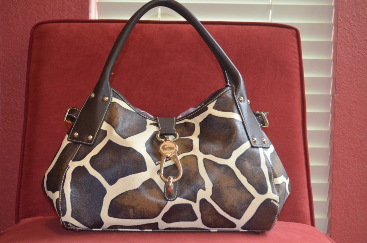 designer animal print handbag