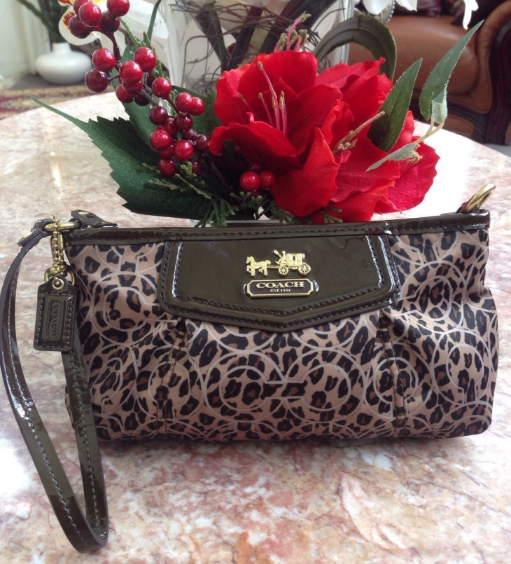 animal print clutch handbag