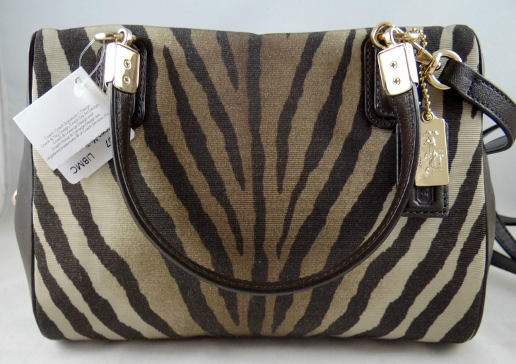 animal print satchel bag