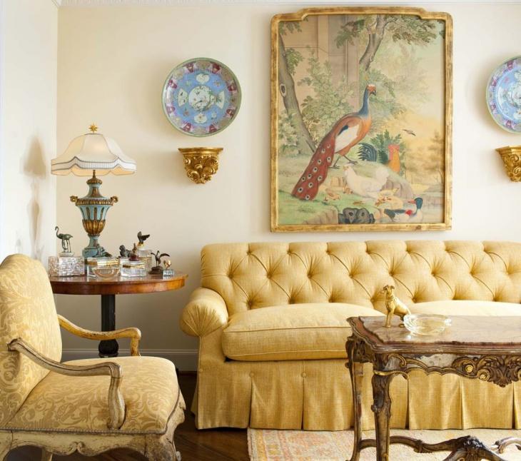 antique living room wall art design