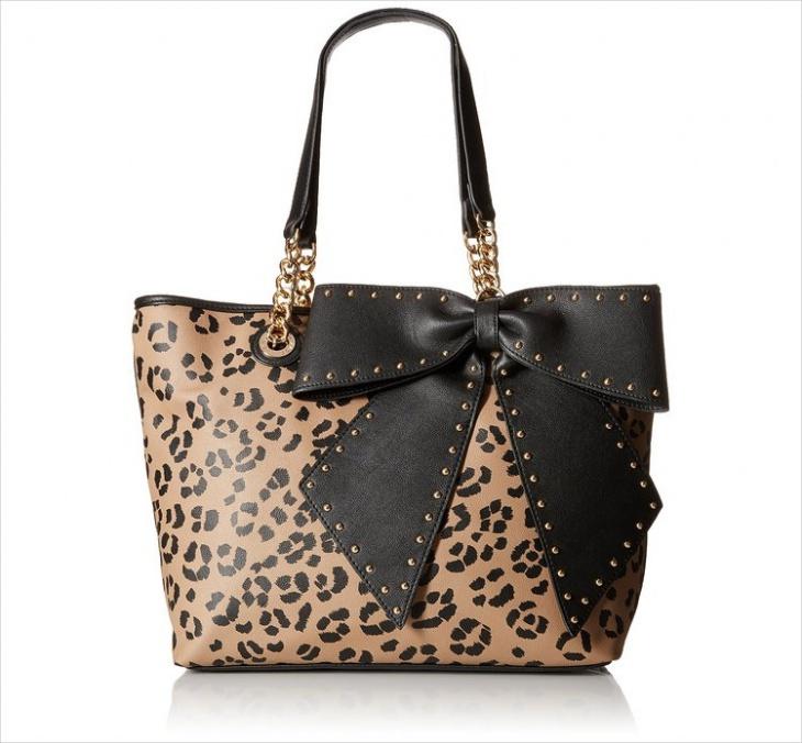 Animal Print Bow Handbag