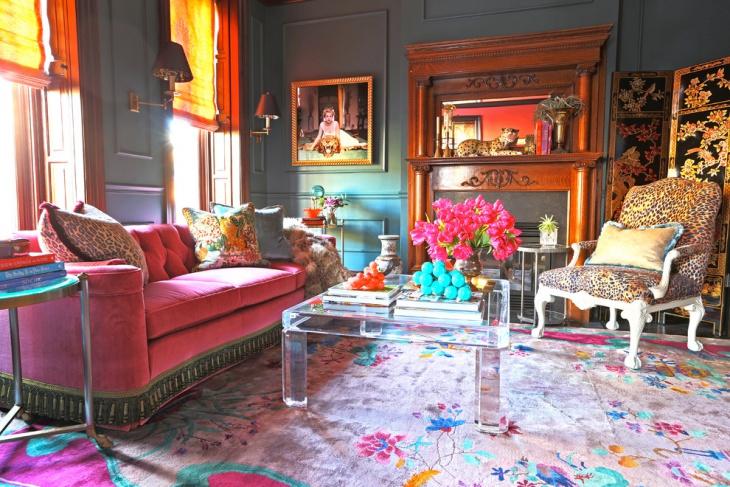 antique living room carpet idea