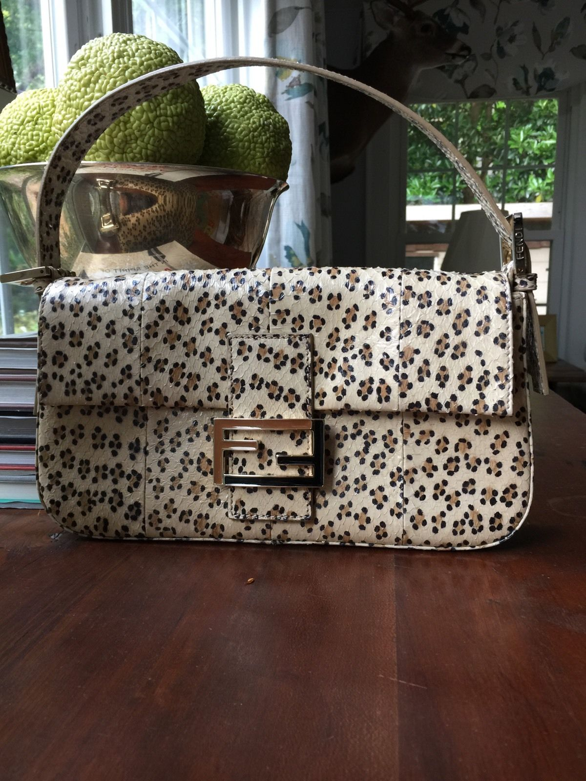 simple animal print handbag