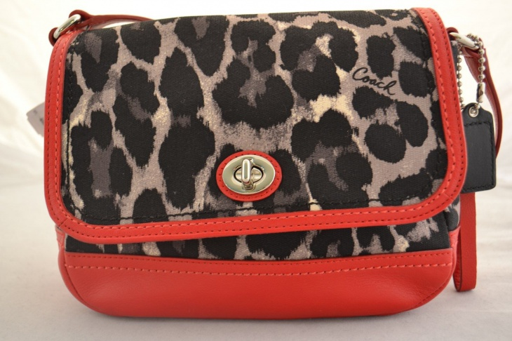 stylish animal print cross body bag